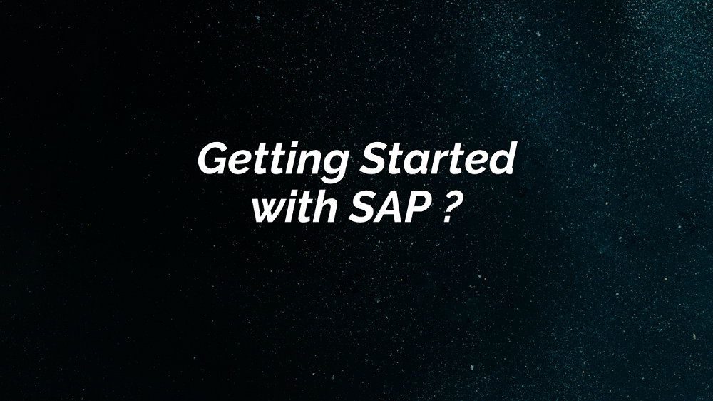 Getting Started with SAP
